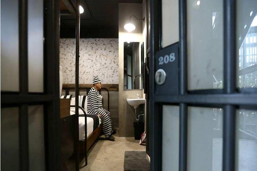 هتلی به شکل زندان در بانکوک تایلند افتتاح شد