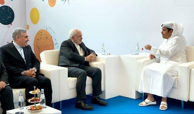 دیدار وزیر خارجه قطر با ظریف در حاشیه نشست منطقه ای کنفرانس مونیخ