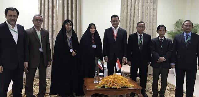 ملاقات هیأت پارلمانی ایران با رؤسای هیأت های پارلمانی کامبوج، اندونزی، روسیه، ویتنام و چین