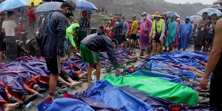 تلفات رانش زمین در میانمار به 166 کشته رسید