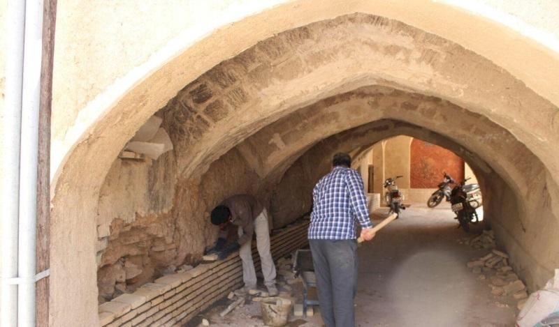 بازسازی ساباط محله تاریخی نوآباد در نائین