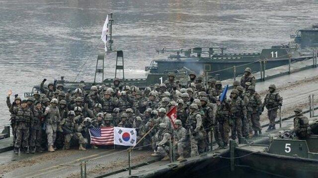 رزمایش نظامی آمریکا و کره جنوبی با تاخیر برگزار می گردد