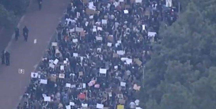 تظاهرات علیه پلیس آمریکا در کارولینای شمالی
