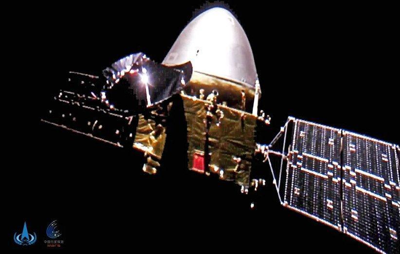 کاوشگر تیان ون-1 چین در راه مریخ از خود سلفی گرفت