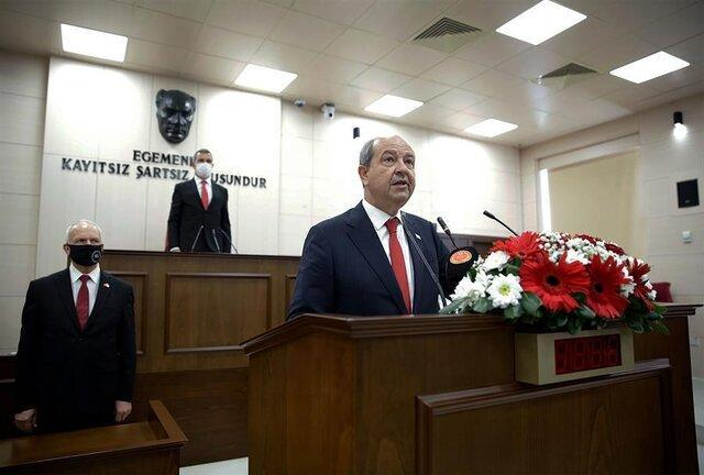 رئیس جمهور جدید قبرس ترک نشین سوگند یاد کرد