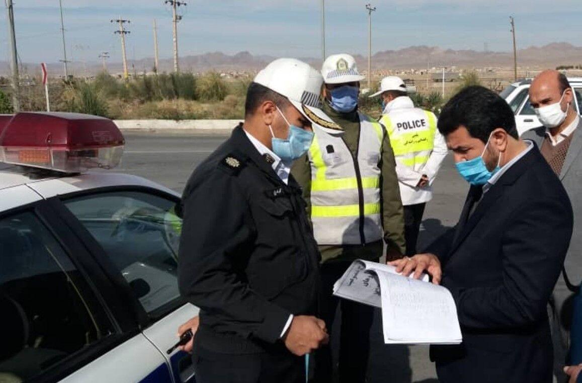 خبرنگاران استاندار خراسان جنوبی از ایستگاه های کنترل تردد بازدید کرد