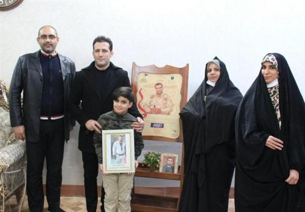 برآورده شدن سه آرزوی فرزند شهید مدافع حرم توسط میراسماعیلی