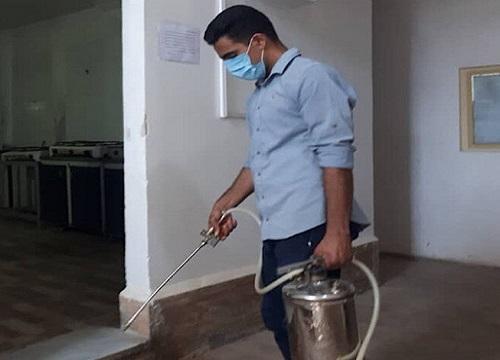 خوابگاه های دانشجویی دانشگاه علوم پزشکی زابل سمپاشی و گندزدایی شدند