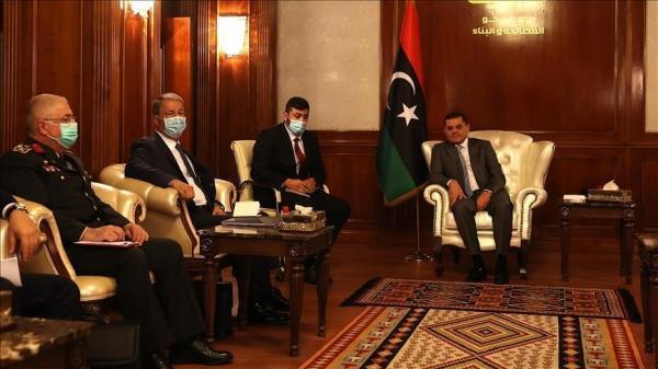 دیدار وزیر دفاع ترکیه با نخست وزیر لیبی