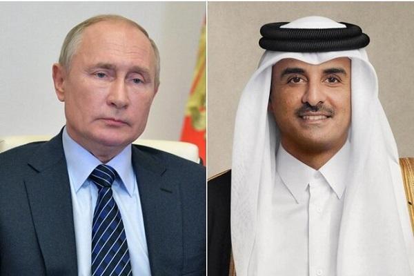گفتگوی تلفنی امیر قطر و پوتین