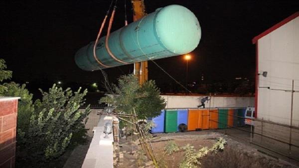مخزن 6 هزار متر مکعبی در شهر چمران نصب شد